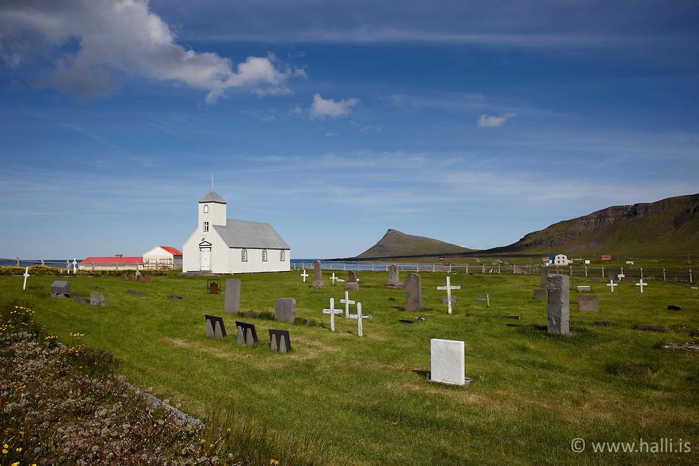 Church at Arnes in Strandir, Iceland - Kirkjan við Árnes á Ströndum
