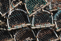 Lobster pots at Whitby harbour