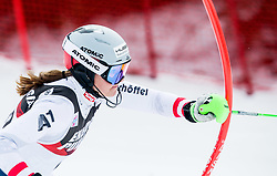 """Katharina Huber (AUT) competes during 1st Run of FIS Alpine Ski World Cup 2017/18 Ladies' Slalom race named """"Snow Queen Trophy 2018"""", on January 3, 2018 in Course Crveni Spust at Sljeme hill, Zagreb, Croatia. Photo by Vid Ponikvar / Sportida"""