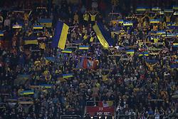 March 22, 2019 - Lisbon, Portugal - Ukraine's supporters during the UEFA EURO 2020 group B qualifying football match Portugal vs Ukraine, at the Luz Stadium in Lisbon, Portugal, on March 22, 2019. (Credit Image: © Pedro Fiuza/NurPhoto via ZUMA Press)