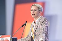 22 NOV 2019, LEIPZIG/GERMANY:<br /> Nadine Schoen, MdB, CDU, haelt eine Rede, CDU Bundesparteitag, CCL Leipzig<br /> IMAGE: 20191122-01-270<br /> KEYWORDS: Parteitag, party congress, Nadine Schön