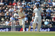 Sam Curran of England bowling during the fourth day of the 4th SpecSavers International Test Match 2018 match between England and India at the Ageas Bowl, Southampton, United Kingdom on 2 September 2018.