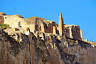 Remains of the Süleyman Mosque in the ancient citadel of Hasankeyf on the cliffs above the Tigris, Turkey .<br /> <br /> If you prefer to buy from our ALAMY PHOTO LIBRARY  Collection visit : https://www.alamy.com/portfolio/paul-williams-funkystock/hasankeyf-turkey.html<br /> <br /> Visit our PHOTO COLLECTIONS OF TURKEY HISTOIC PLACES for more photos to download or buy as wall art prints https://funkystock.photoshelter.com/gallery-collection/Pictures-of-Turkey-Turkey-Photos-Images-Fotos/C0000U.hJWkZxAbg