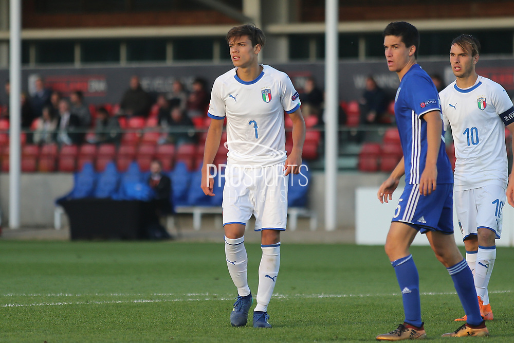 Samuele Ricci of Italy (7) during the UEFA European Under 17 Championship 2018 match between Israel and Italy at St George's Park National Football Centre, Burton-Upon-Trent, United Kingdom on 10 May 2018. Picture by Mick Haynes.