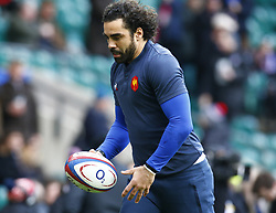 February 10, 2019 - London, England, United Kingdom - Yoann Huget of France warm up.during the Guiness 6 Nations Rugby match between England and France at Twickenham  Stadium on February 10th, 2019 in Twickenham, London,  England. (Credit Image: © Action Foto Sport/NurPhoto via ZUMA Press)