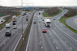 © Licensed to London News Pictures. 19/12/2020. <br /> Dartford, UK. No getaway Christmas traffic this year on the M25 near Dartford in Kent due to the Cornavirus restrictions. Photo credit:Grant Falvey/LNP