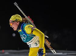 February 12, 2018 - Pyeongchang, Gangwon, South Korea - Linn Persson ofSweden competing at Women's 10km Pursuit, Biathlon, at olympics at Alpensia biathlon stadium, Pyeongchang, South Korea. on February 12, 2018. (Credit Image: © Ulrik Pedersen/NurPhoto via ZUMA Press)