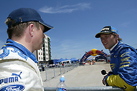 AUTO - WRC 2005 - RALLY ITALIA SARDINIA - OLBIA 01/05/2005 - PHOTO : Digitalsport<br /> HENNING SOLBERG / PETTER SOLBERG (NOR) - AMBIANCE - PORTRAIT