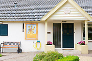 Residents display Vincent Van Gogh posters at home by Kroller Muller museum, during traditional festival, Otterlo, Netherlands