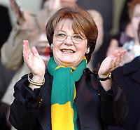Fotball<br /> Photo: Daniel Hambury, Digitalsport<br /> NORWAY ONLY<br /> Norwich City V Wigan Athletic<br /> Nationwide League  Division One. <br /> 9/04/2004.  <br /> <br /> Norwich City's majority shareholder Delia Smith