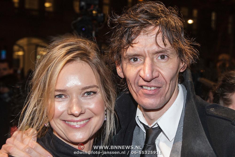 NLD/Amsterdam/20150306 - Boekenbal 2015, Peter Buwalda en partner Suzanne Rethans
