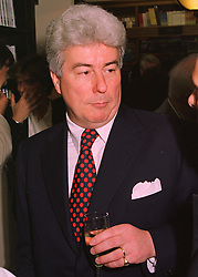 Writer MR KEN FOLLETT, at a party in London on 29th April 1998.MHH 2