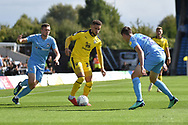 Oxford United midfielder (on loan from West Ham United) Marcus Browne (10) battles for possession during the EFL Sky Bet League 1 match between Oxford United and Coventry City at the Kassam Stadium, Oxford, England on 9 September 2018.