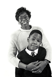 Mother and son UK 1990s UK