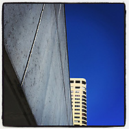 2019 MARCH 18 - Buildings and blue sky, Seattle, WA, USA. Taken/edited with Instagram App for iPhone. By Richard Walker