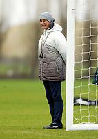Photo: Scott Heavey.<br /> Chelsea Training session. 23/03/2004.<br /> Claudio Ranieiri enjoys the session