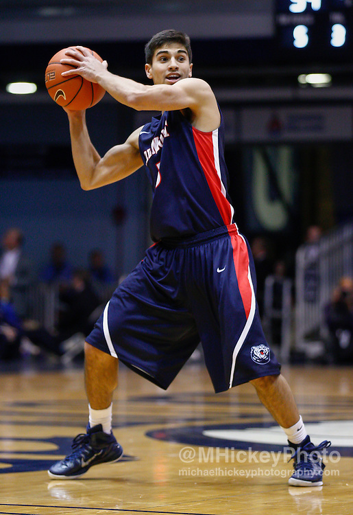 INDIANAPOLIS, IN - DECEMBER 28: Caleb Chowbay #5 of the Belmont Bruins holds the ball during the game against the Butler Bulldogs at Hinkle Fieldhouse on December 28, 2014 in Indianapolis, Indiana. (Photo by Michael Hickey/Getty Images) *** Local Caption *** Caleb Chowbay