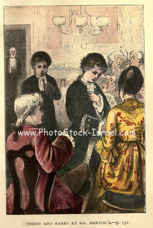 Tommy and Harry and Mrs. Merton's From the Book ' The history of Sandford and Merton ' by Thomas Day, 1748-1789; with original illustrations printed in colours by Edward and George Dalziel,