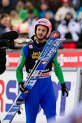 19.12.2015, Gross Titlis Schanze, Engelberg, SUI, FIS Weltcup Ski Sprung, Engelberg, im Bild Manuel Fettner, Österreich, ist enttäuscht über seinen Finalsprung // during mens FIS Ski Jumping World Cup at the Gross Titlis Schanze in Engelberg, Switzerland on 2015/12/19. EXPA Pictures © 2015, PhotoCredit: EXPA/ Eibner-Pressefoto/ Socher<br /> <br /> *****ATTENTION - OUT of GER*****