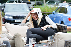 Lucy Warhurst at Young Guns raising money for the fight against breast cancer trough Cancer Research UK held at EJ Churchill Shooting School followed by lunch at West Wycombe Park, England. 23 September 2017.