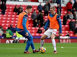 Stoke City's Darren Fletcher (right)  during warm-up