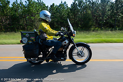 Brian Pease riding his 1938 Nimbus C (in a 52 frame) during the Cross Country Chase motorcycle endurance run from Sault Sainte Marie, MI to Key West, FL. (for vintage bikes from 1930-1948). Stage-7 covered 249 miles from Macon, GA to Tallahassee, FL USA. Thursday, September 12, 2019. Photography ©2019 Michael Lichter.