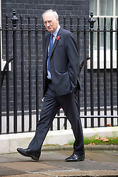 © London News Pictures. 01/11/2011. London, UK. Leader of the House of Commons Sir George Young arriving at 10 Downing Street this morning (01/11/2011) for a cabinet meeting. Photo credit: Ben Cawthra/LNP