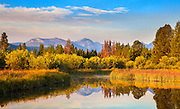 Early fall color reflections in the Beaverhead Mountains, Montana.