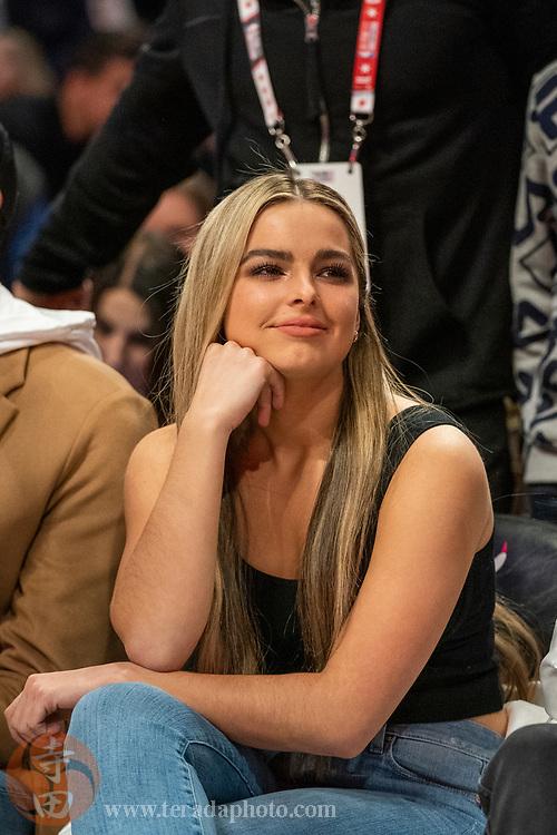 February 15, 2020; Chicago, Illinois, USA; TikTok social media personality Addison Rae during NBA All Star Saturday Night at United Center.