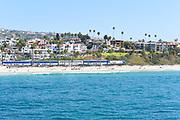 The Pacific Surfliner Passenger Train Leaving San Clemente