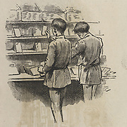 'Sorting letters, General Post Office, St Martin's le Grand, London,  1886.'