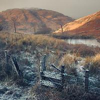 Frozen fence, Glennoe, Loch Etive