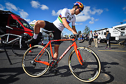 September 22, 2018 - Waterloo, UNITED STATES - Belgian Wout Van Aert pictured ahead of a training session in preparations for tomorrow's first UCI World Cup cyclocross race of the 2018-2019 cyclocross season in Waterloo (WI), USA, Saturday 22 September 2018. BELGA PHOTO DAVID STOCKMAN (Credit Image: © David Stockman/Belga via ZUMA Press)