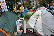 Occupy London October 23rd 2011. Finsbury Square. The library tent.
