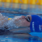 Liam Tancock, Great Britain, Breaks the World Record in the men's 50m Backstroke semi finals at the World Swimming Championships in Rome on Saturday, August 01, 2009. Photo Tim Clayton.