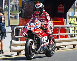 October 20, 2017 - Melbourne, Victoria, Australia - Spanish rider Jorge Lorenzo (#99) of Ducati Team inpit lane during the first free practice session of the MotoGP class at the 2017 Australian MotoGP at Phillip Island, Australia. (Credit Image: © Theo Karanikos via ZUMA Wire)