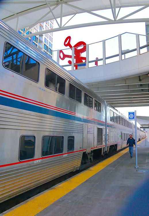 Amtrak Zephyr at Denver, CO train station