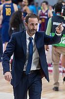 FC Barcelona Lassa coach Sito Alonso during Liga Endesa match between Real Madrid and FC Barcelona Lassa at Wizink Center in Madrid, Spain. November 12, 2017. (ALTERPHOTOS/Borja B.Hojas)