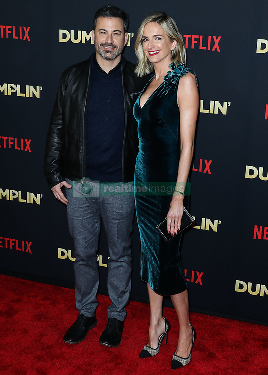 HOLLYWOOD, LOS ANGELES, CA, USA - DECEMBER 06: Singer Dolly Parton arrives at the Los Angeles Premiere Of Netflix's 'Dumplin'' held at the TCL Chinese Theatre IMAX 6 on December 6, 2018 in Hollywood, Los Angeles, California, United States. 06 Dec 2018 Pictured: Jimmy Kimmel, Molly McNearney. Photo credit: Xavier Collin/Image Press Agency/MEGA TheMegaAgency.com +1 888 505 6342