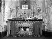 Carmelite Church, Whitefriar St - Shrines to St Valentine and St Pius.18/04/1956
