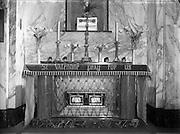 Carmelite Church, Whitefriar St - Shrines to St Valentine and St Pius.18/04/1956