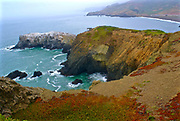 Hills, West across Golden Gate Bridge, San Francisco Bay, California