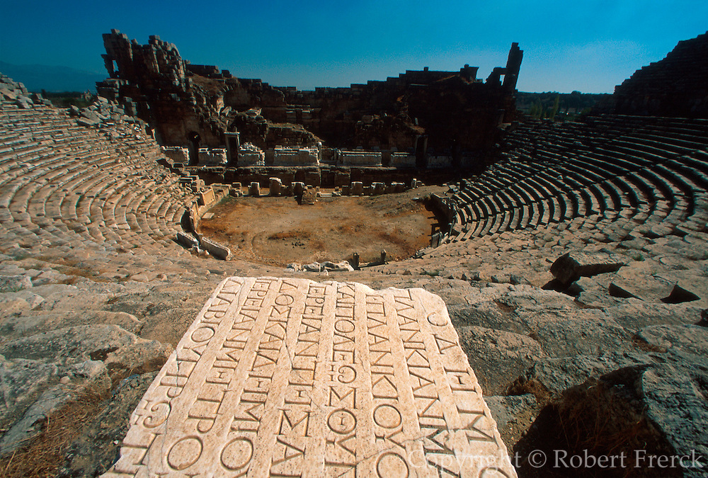 TURKEY, GREEK AND ROMAN Perge; theatre with 14,000 seats
