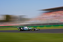 March 17, 2019 - Albert Park, VIC, U.S. - ALBERT PARK, VIC - MARCH 17: Mercedes-AMG Petronas Motorsport driver Lewis Hamilton (44) during the race at The Australian Formula One Grand Prix on March 17, 2019, at The Melbourne Grand Prix Circuit in Albert Park, Australia. (Photo by Speed Media/Icon Sportswire) (Credit Image: © Steven Markham/Icon SMI via ZUMA Press)