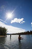 Fishing in the Kenai River, Alaska, USA<br /> <br /> Photographer: Christina Sjögren<br /> <br /> Copyright 2019, All Rights Reserved