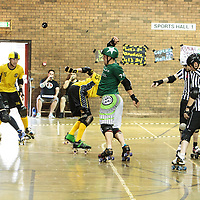 Manchester  Roller Derby's New Wheeled Order take on the Crash Test Brummies at George H. Carnall Liesure Centre, Manchester, 2014-07-26