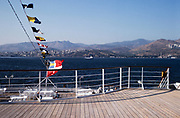 Onboard MV Minerva cruise ship Swan Hellenic holiday cruises at Izmir, Turkey in 1997