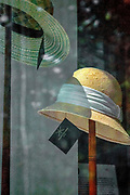 Straw Panama hat on a stand