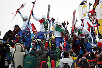 OL 2006 Langrenn menn stafett,<br />Pragelato Plan<br />19..02.06 <br />Foto: Sigbjørn Hofsmo, Digitalsport <br /><br /><br />ITA Fulvio Valbusa - Giorgio di Centa - Pietro Piller Cottrer - Christian Zorzi