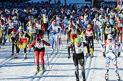 23.01.2011, Loipe Obertilliach, Obertilliach, AUT, 37. Dolomitenlauf, im Bild Startschuss zum Dolomitenlauf// EXPA Pictures © 2011, PhotoCredit: EXPA/ M. Gruber